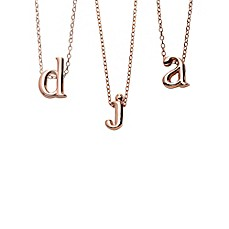 image of 18K Rose Gold-Plated 18-Inch Chain Lower Case Letter Pendant Necklace