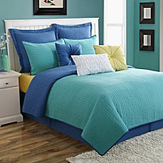 image of Fiesta® Dash Pic Stitch Quilt Set in Turquoise