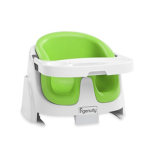 ingenuity baby base 2 in 1 booster seat in lime bed bath beyond. Black Bedroom Furniture Sets. Home Design Ideas