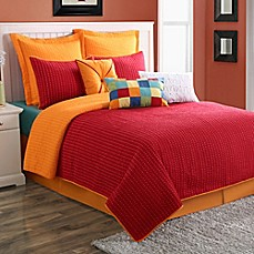 image of Fiesta® Dash Pic Stich Reversible Quilt Set