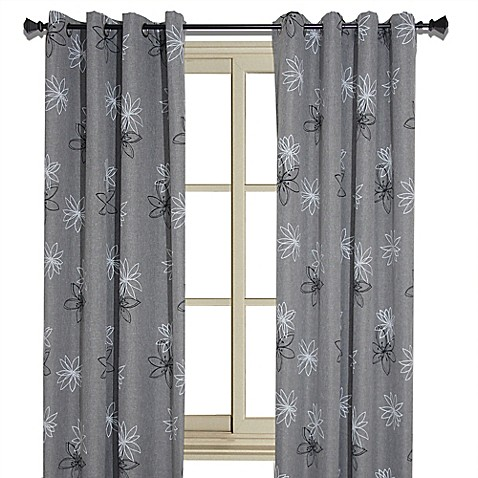 Crawford Floral Print Room Darkening Window Curtain Panel Bed Bath Beyond