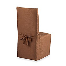 Autumn Scroll Damask Dining Room Chair Cover