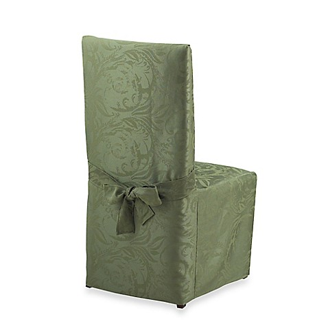 buy autumn scroll damask dining room chair cover in fern