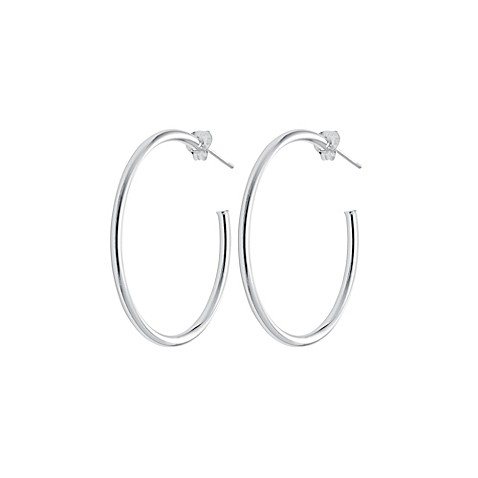 buy sterling silver 3 4 inch half hoop earrings from bed