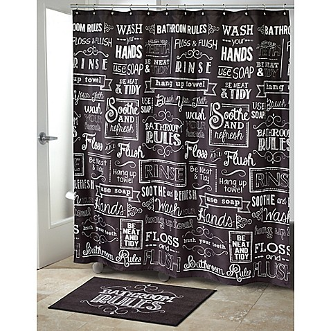 Avanti Chalk It Up Shower Curtain