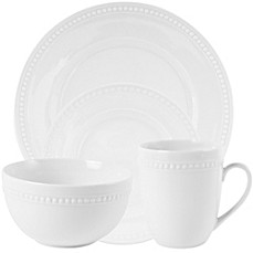 image of Everyday White®  by Fitz and Floyd® Beaded Dinnerware