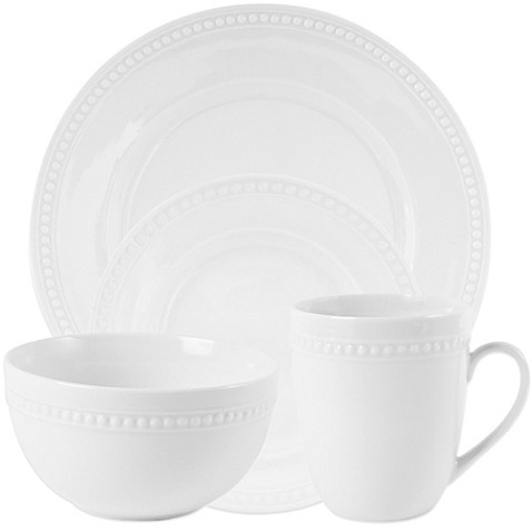 Everyday White® by Fitz and Floyd® Beaded Dinnerware  sc 1 st  Bed Bath u0026 Beyond & White Dinnerware Porcelain Dinnerware Sets | Bed Bath u0026 Beyond