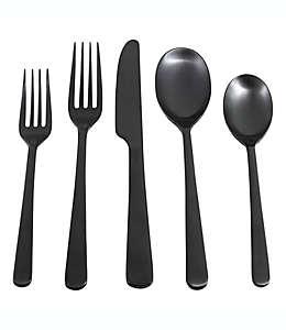Set de cubiertos de acero inoxidable Cambridge™ Silversmiths Julie color negro, 20 piezas