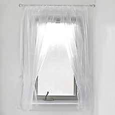 image of vinyl bathroom window curtain in frost - Bathroom Window