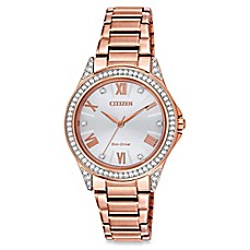 image of Citizen Drive from Eco-Drive Ladies' 34mm Swarovski® POV Watch in Rose Goldtone Stainless Steel