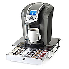 image of Nifty™ Keurig® K-cup® 36-Capacity Glass-Top Rolling Drawer