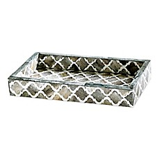 image of kassatex marrakesh bone tray - Kassatex