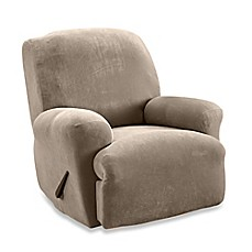 image of Sure Fit® Stretch Sterling Recliner Slipcover in Taupe  sc 1 st  Bed Bath u0026 Beyond : recliner slipcover - islam-shia.org