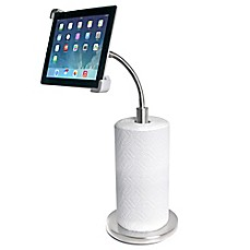 image of CTA Digital Paper Towel Holder with Gooseneck Stand for iPad® and Tablets