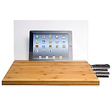 image of CTA Digital Bamboo Cutting Board with Screen Shield for iPad®