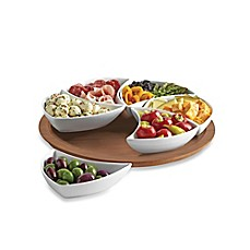 image of B. Smith Lazy Susan Swirl Server