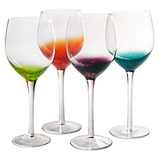 image of Artland® Fizzy Goblets in Assorted Colors (Set of 4)