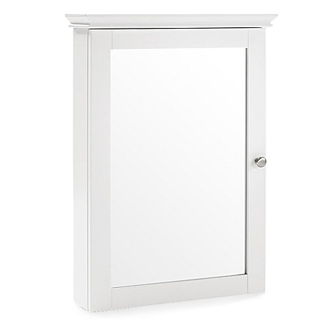 Charmant Crosley Lydia Mirrored Wall Cabinet In White