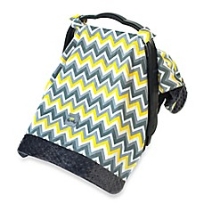 image of Itzy Ritzy® Cozy Happens™ Infant Car Seat Canopy and Tummy Time Mat in Sunrise Chevron