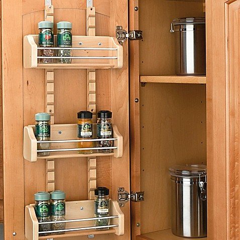 Rev A Shelf 174 Adjustable Door Mount Spice Rack Bed Bath