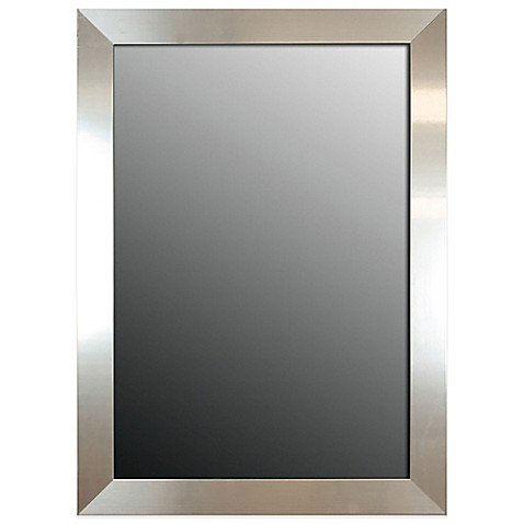 buy hitchcock butterfield 30 inch x 42 inch decorative wall mirror in stainless silver from bed. Black Bedroom Furniture Sets. Home Design Ideas