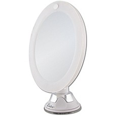 image of Zadro™ 10x Cordless LED Lighted Wall Mount Mirror