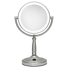 Image Of Zadro™ 10x/1x Cordless LED Lighted Vanity Mirror