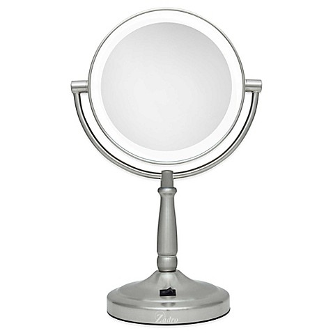 Zadro 10x 1x Cordless Led Lighted Vanity Mirror Bed