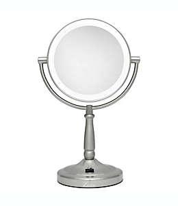 Espejo de tocador Zadro™, con luz LED sin cables 10x/1x