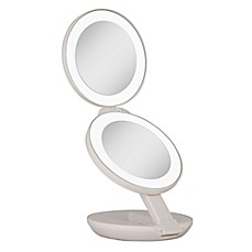 image of Zadro™ 1x/10x LED Lighted Travel Mirror