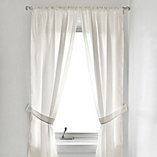 image of fabric bath window curtain panel pair