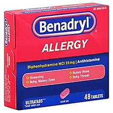image of Benadryl 48-Count Allergy Ultratab Tablets