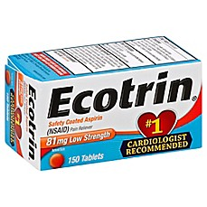 image of Ecotrin® Aspirin 150-Count Low Strength Safety Coated Tablets