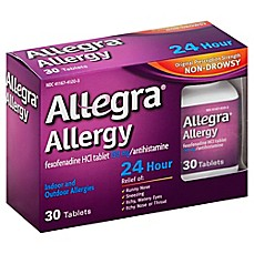 image of Allegra® Allergy 24 Hour 30-Count Tablets