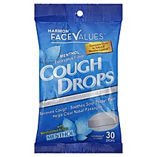 image of Harmon® Face Values™ 30-Count Cough Drops in Menthol Eucalyptus
