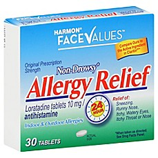 image of Harmon® Face Values™ 30-Count Non Drowsy Allergy Relief Tablets