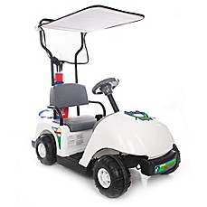 image of Kid Motorz Jr. Pro Golf Cart 6-Volt Ride-On in White