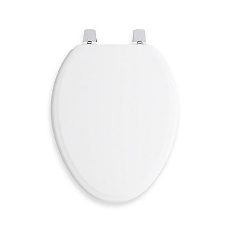Kohler Ridgewood Q2 Elongated Toilet Seat In White Bed