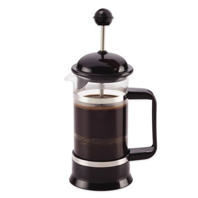 BonJour 3-Cup La Petite French Press and Frother Set in Black - Bed Bath & Beyond