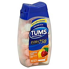 image of TUMS® Extra Strength 96-Count Chewable Antacid Tablets in Assorted Fruit