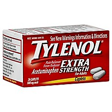 image of Tylenol Extra Strength 24-Count 500 mg Pain Reliever Caplets