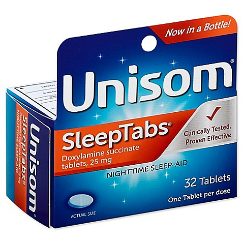 unisom sleeptabs 32 count nighttime sleep aid tablets bed bath beyond. Black Bedroom Furniture Sets. Home Design Ideas
