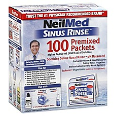 image of NeilMed® Sinus Rinse™ Saline Nasal Irrigation 100-Count Premixed Packets