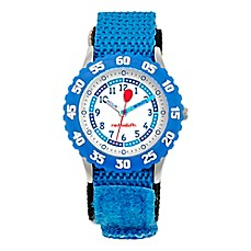 image of Red Balloon Children's 32mm Time Teacher Numbered Bezel Watch in Stainless Steel with Blue Strap