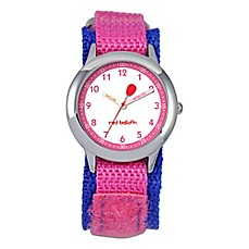 image of Red Balloon Children's 30mm Time Teacher Watch in Stainless Steel with Purple/Pink Strap