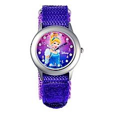 Disney princess bed bath beyond disney children 32mm glitz cinderella time teacher watch in stainless steel with purple strap watchthetrailerfo