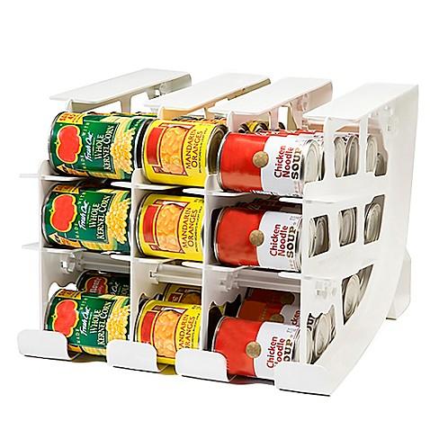Superb FIFO Can Tracker Food Storage Organizer