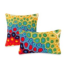 Image of Liora Manne Outdoor Throw Pillow Collection in Pop Swirl MultiPatio Cushions   Pillows   Bed Bath   Beyond. Exterior Cushions Canada. Home Design Ideas