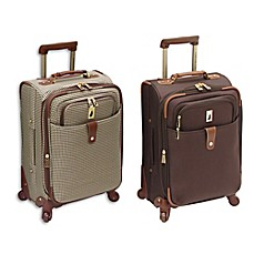 image of london fog chelsea lites 21inch expandable spinner with suiter - London Fog Luggage