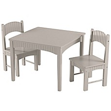 image of Tree House Lane Table and 2 Chairs Set in Grey